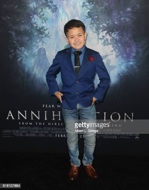 Actor Sam Humphrey arrives for the Premiere Of Paramount Pictures' 'Annihilation' held at Regency Village Theatre on February 13 2018 in Westwood...