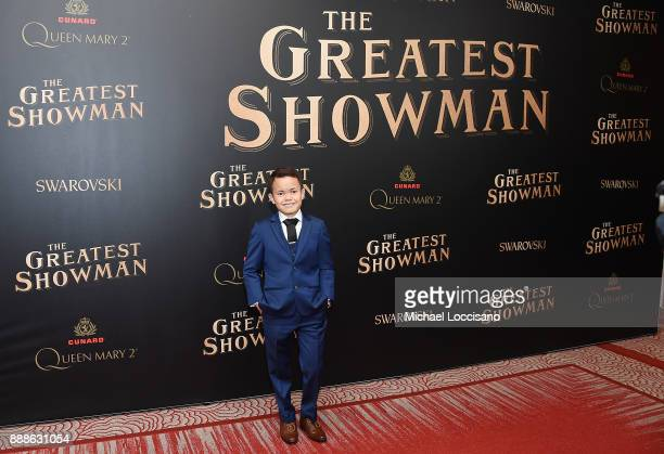 Actor Sam Humphrey attends the The Greatest Showman World Premiere aboard the Queen Mary 2 at the Brooklyn Cruise Terminal on December 8 2017 in the...