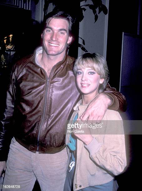 Actor Sam J Jones and fiance Lynn Eriks attend the 39th Annual Golden Globe Awards Rehearsals on January 29 1982 at Beverly Hilton Hotel in Beverly...