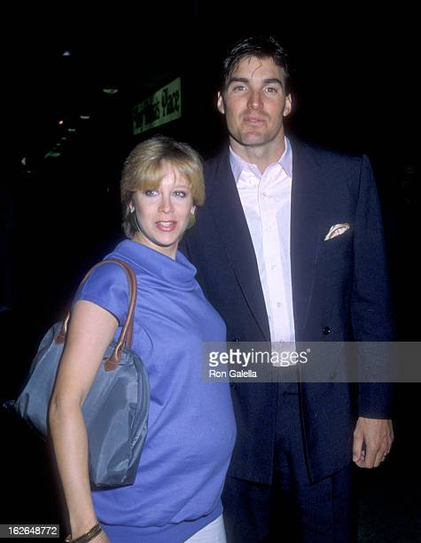 Actor Sam J Jones and wife Lynn Eriks attend the ABC Affiliates Party on May 9 1983 at Century Plaza Hotel in Los Angeles California