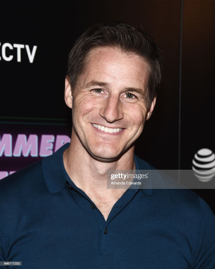 Actor Sam Jaeger arrives at the Los Angeles special screening of 'Hot Summer Nights' at the Pacific Theatres at The Grove on July 11, 2018 in Los Angeles, California.