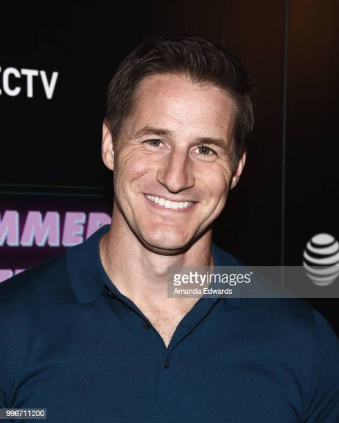 Actor Sam Jaeger arrives at the Los Angeles special screening of 'Hot Summer Nights' at the Pacific Theatres at The Grove on July 11 2018 in Los...