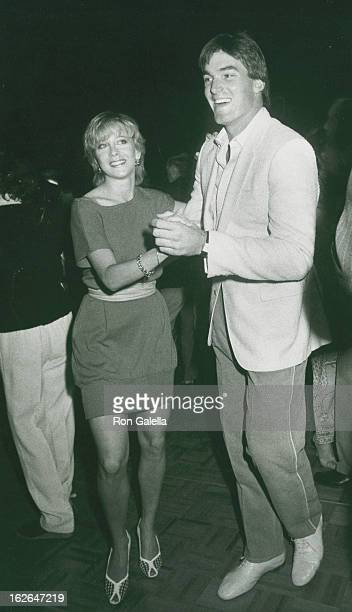 Actor Sam Jones and wife Lynn Eriks attend 11th Annual Alan King Tennis Classic Roman Fantasy Pool Party on April 24 1982 at Caesar's Palace in Las...