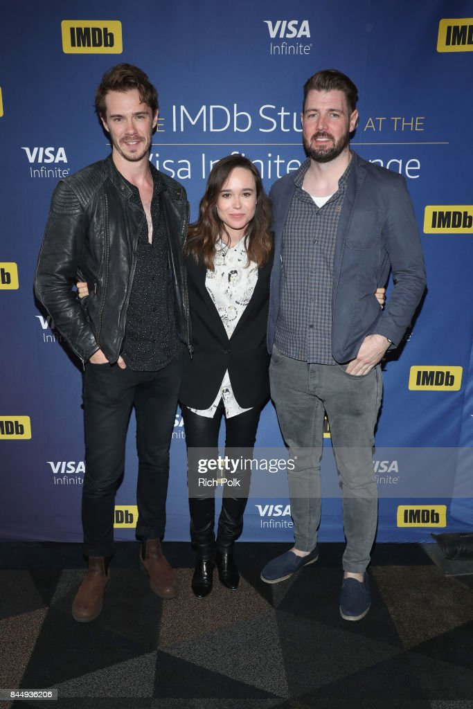 Actor Sam Kelley, actress Ellen Page and writer/director David Freyne of 'The Cured' attend The IMDb Studio Hosted By The Visa Infinite Lounge at The 2017 Toronto International Film Festival at Bisha Hotel & Residences on September 8, 2017 in Toronto, Canada.