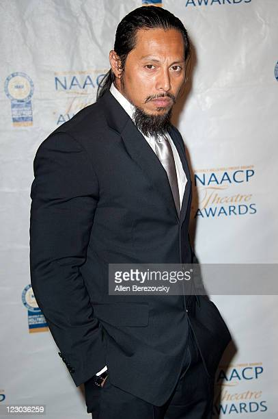Actor Sam Medina arrives at the 21st NAACP Theatre Awards at Directors Guild Of America on August 29 2011 in Los Angeles California