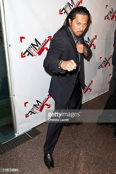 Actor Sam Medina arrives at the Blood Out world premiere at Directors Guild Of America on April 25 2011 in Los Angeles California