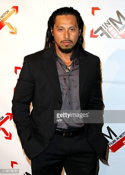 Actor Sam Medina arrives at the Premiere of Lionsgate Blood Out in Los Angeles California on April 25 2011 AFP PHOTO/VALERIE MACON