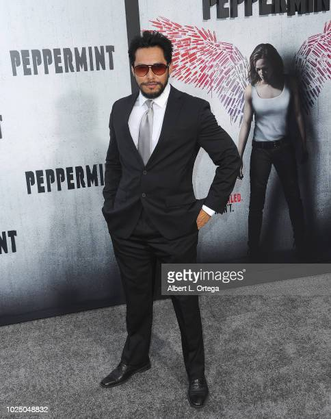 Actor Sam Medina arrives for the Premiere Of STX Entertainment's Peppermint held at Stadium 14 on August 28 2018 in Los Angeles California