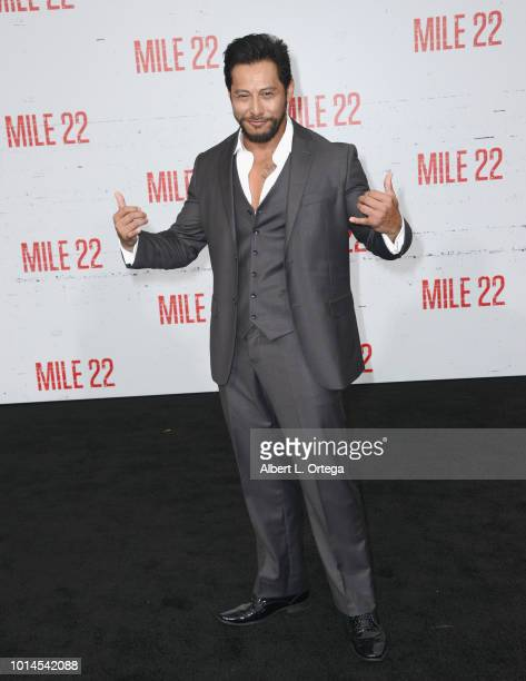 Actor Sam Medina arrives for the Premiere Of STX Films' 'Mile 22' held at Westwood Village Theatre on August 9 2018 in Westwood California