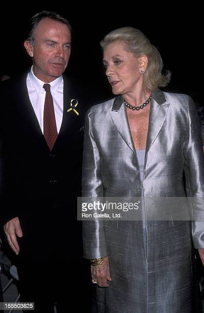 Actor Sam Neill and actress Lauren Bacall attend WinFemme Film Festival Gala Honoring Lauren Bacall and Jane Campion on August 20 2000 at the Beverly...