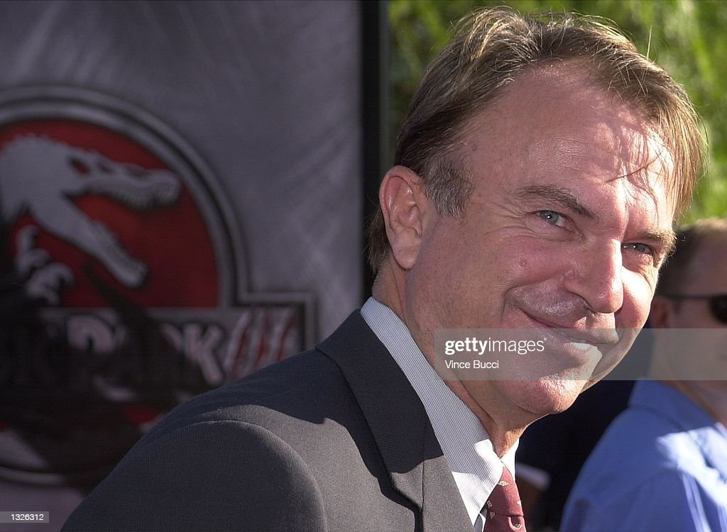 Actor Sam Neill attends the premiere of the Universal Pictures film Jurassic Park III July 16, 2001 at Universal Studios in Burbank, CA.
