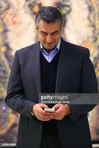Actor Sam Nouri looks on during 'Sperm Whale' Movie on on December 2 2014 in Tehran Iran