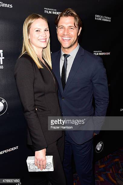 Actor Sam Page and Cassidy Page attend the Caught screening during the 2015 Los Angeles Film Festival at Regal Cinemas LA Live on June 12 2015 in Los...