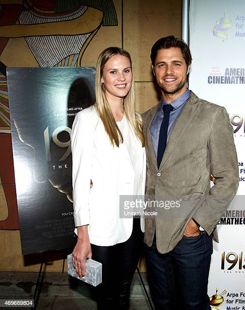 Actor Sam Page and wife Cassidy Boesch attend 1915 The Movie Los Angeles Premiere at American Cinematheque's Egyptian Theatre on April 13 2015 in...