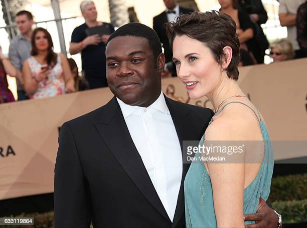 Actor Sam Richardon and guest arrive at the 23rd Annual Screen Actors Guild Awards at The Shrine Expo Hall on January 29 2017 in Los Angeles...