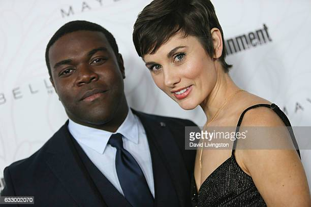 Actor Sam Richardson and guest arrive at the Entertainment Weekly celebration honoring nominees for The Screen Actors Guild Awards at the Chateau...