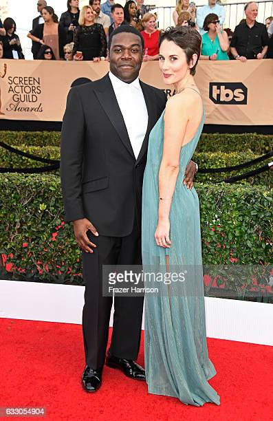 Actor Sam Richardson and guest attend The 23rd Annual Screen Actors Guild Awards at The Shrine Auditorium on January 29 2017 in Los Angeles...