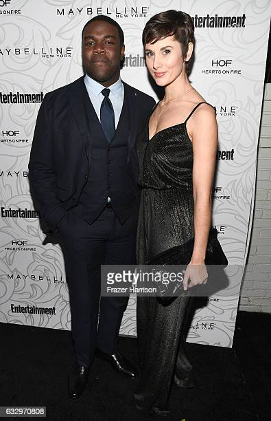 Actor Sam Richardson and guest attend the Entertainment Weekly Celebration of SAG Award Nominees sponsored by Maybelline New York at Chateau Marmont...