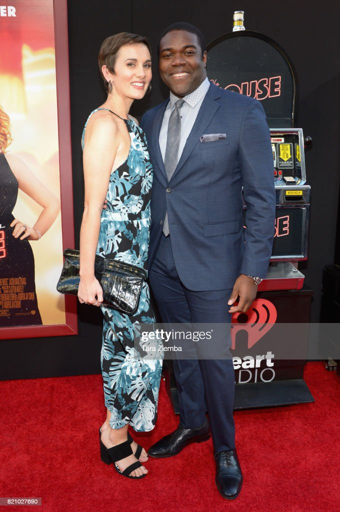 Actor Sam Richardson (R) and guest attend the Los Angeles Premiere of Warner Bros. Pictures' 'The House' at TCL Chinese Theatre on June 26, 2017 in Hollywood, California.