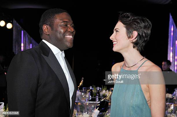 Actor Sam Richardson and Nicole Boyd attend The 23rd Annual Screen Actors Guild Awards Cocktail Reception at The Shrine Auditorium on January 29 2017...