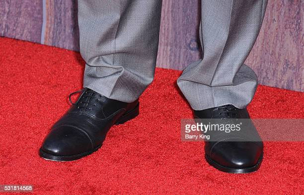 Actor Sam Richardson shoe detail attends the American Premiere of Universal Pictures' 'Neighbors 2 Sorority Rising' at Regency Village Theatre on May...