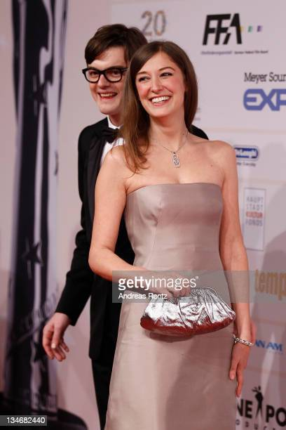 Actor Sam Riley and partner actress Alexandra Maria Lara arrive for the 24th European Film Awards 2011 at Tempodrom on December 3 2011 in Berlin...