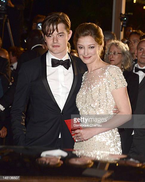 Actor Sam Riley and wife Alexandra Maria Lara attend the On The Road Premiere during the 65th Annual Cannes Film Festival at Palais des Festivals on...