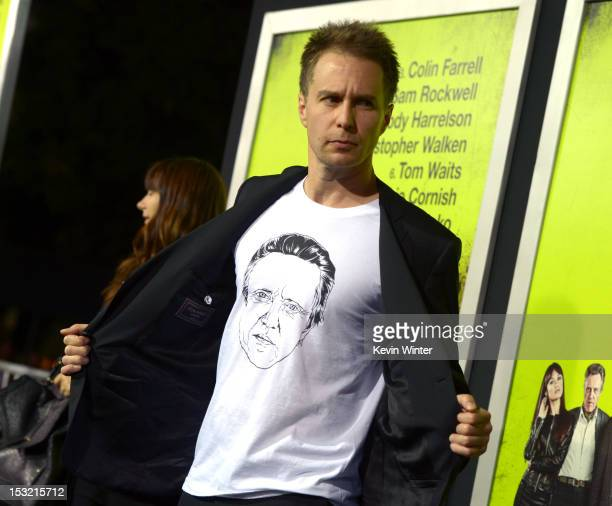 Actor Sam Rockwell arrives at the premiere of CBS Films' 'Seven Psychopaths' at Mann Bruin Theatre on October 1 2012 in Westwood California