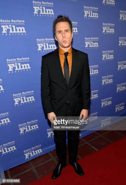 Actor Sam Rockwell at The American Riviera Award Honoring Sam Rockwell during The 33rd Santa Barbara International Film Festival at Arlington Theatre...