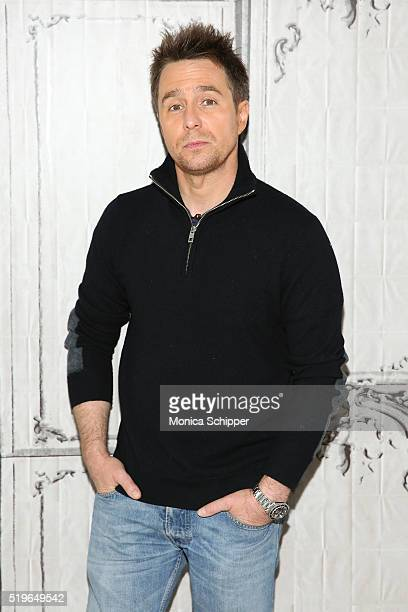 Actor Sam Rockwell attends AOL Build Speakers Series Sam Rockwell 'Mr Right' at AOL Studios In New York on April 7 2016 in New York City