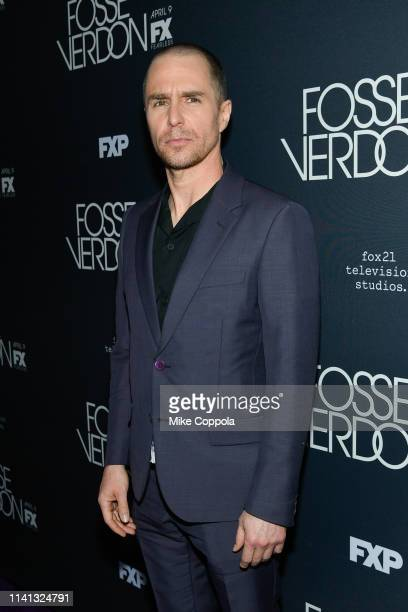 Actor Sam Rockwell attends FX's Fosse/Verdon New York Premiere on April 08 2019 in New York City