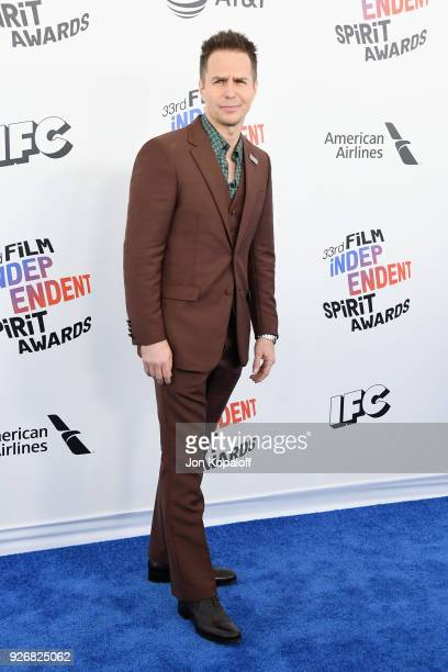 Actor Sam Rockwell attends the 2018 Film Independent Spirit Awards on March 3 2018 in Santa Monica California