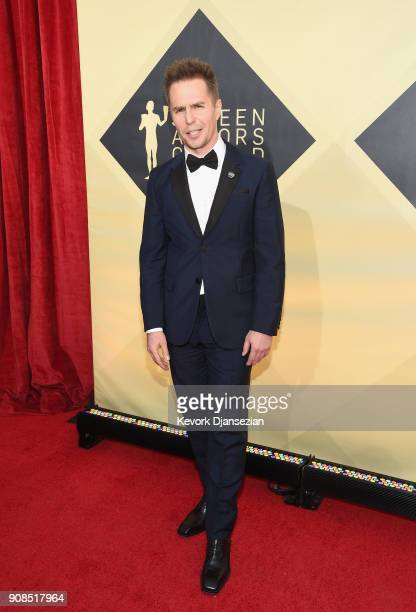 Actor Sam Rockwell attends the 24th Annual Screen Actors Guild Awards at The Shrine Auditorium on January 21 2018 in Los Angeles California