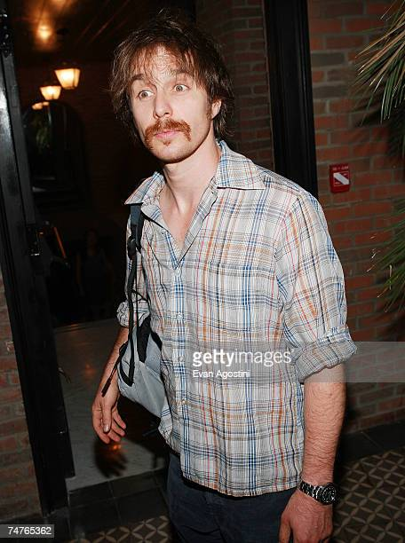 Actor Sam Rockwell attends the Broken English premiere after party at the Bowery Hotel June 18 2007 in New York City