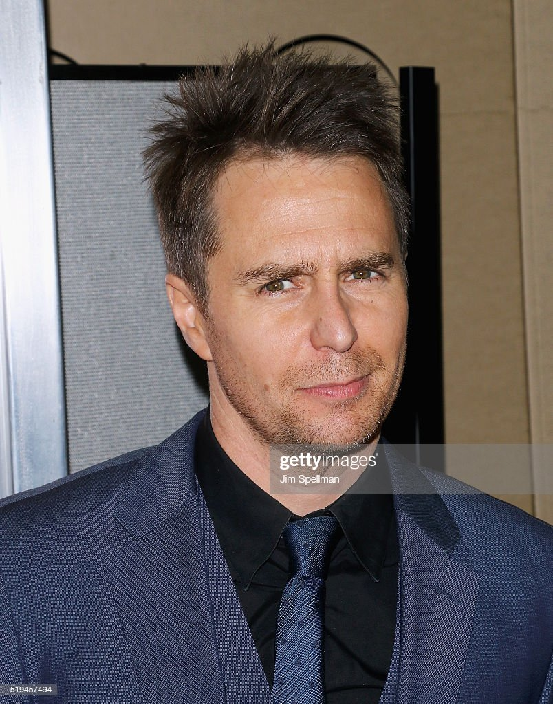 Actor Sam Rockwell attends the 'Mr. Right' New York premiere at AMC Lincoln Square Theater on April 6, 2016 in New York City.