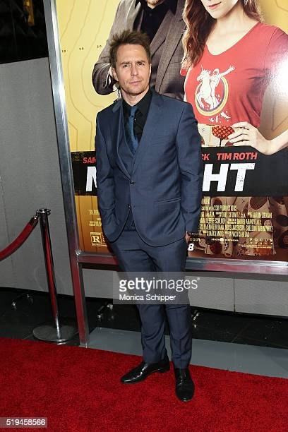 Actor Sam Rockwell attends the Mr Right New York Premiere at AMC Lincoln Square Theater on April 6 2016 in New York City