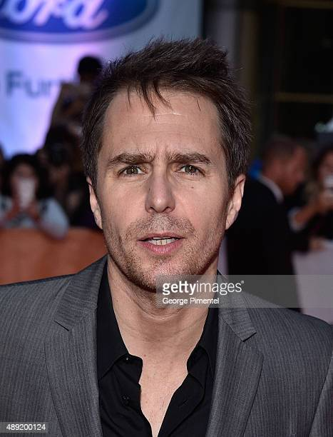 Actor Sam Rockwell attends the Mr Right premiere during the Toronto International Film Festival at Roy Thomson Hall on September 19 2015 in Toronto...