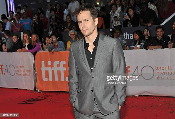 Actor Sam Rockwell attends the 'Mr Right' premiere during the Toronto International Film Festival at Roy Thomson Hall on September 19 2015 in Toronto...