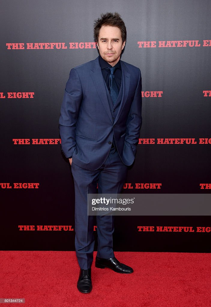 Actor Sam Rockwell attends the New York premiere of 'The Hateful Eight' on December 14, 2015 in New York City.