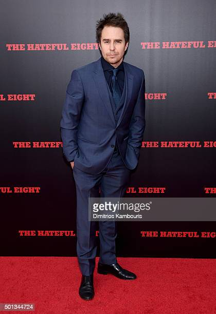 Actor Sam Rockwell attends the New York premiere of 'The Hateful Eight' on December 14 2015 in New York City