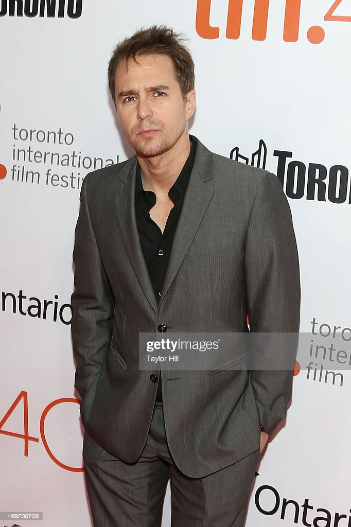 Actor Sam Rockwell attends the premiere of 'Mr. Right' at Roy Thomson Hall during the 2015 Toronto International Film Festival on September 19, 2015 in Toronto, Canada.