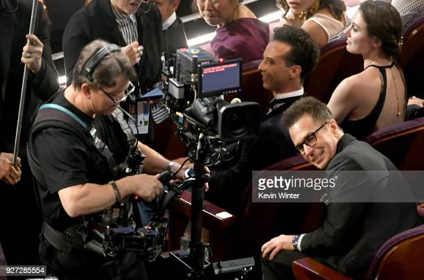 Actor Sam Rockwell in the audience during the 90th Annual Academy Awards at the Dolby Theatre at Hollywood Highland Center on March 4 2018 in...