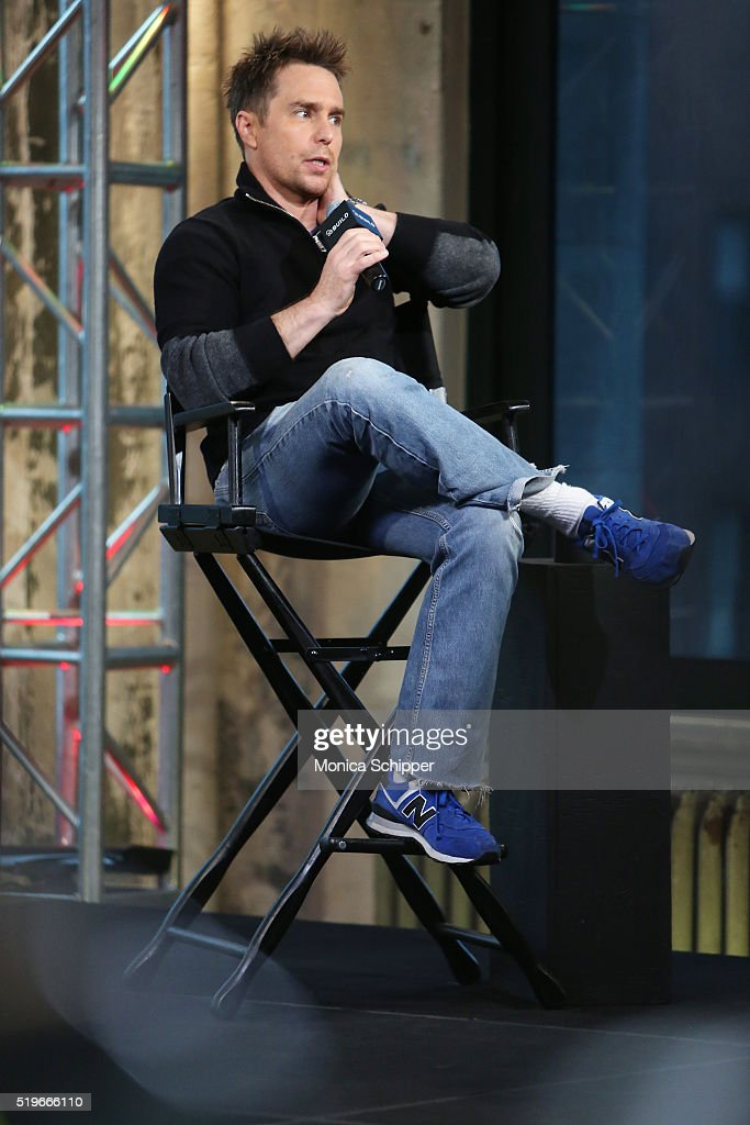 Actor Sam Rockwell speaks at AOL Build Speakers Series - Sam Rockwell, 'Mr. Right' at AOL Studios In New York on April 7, 2016 in New York City.