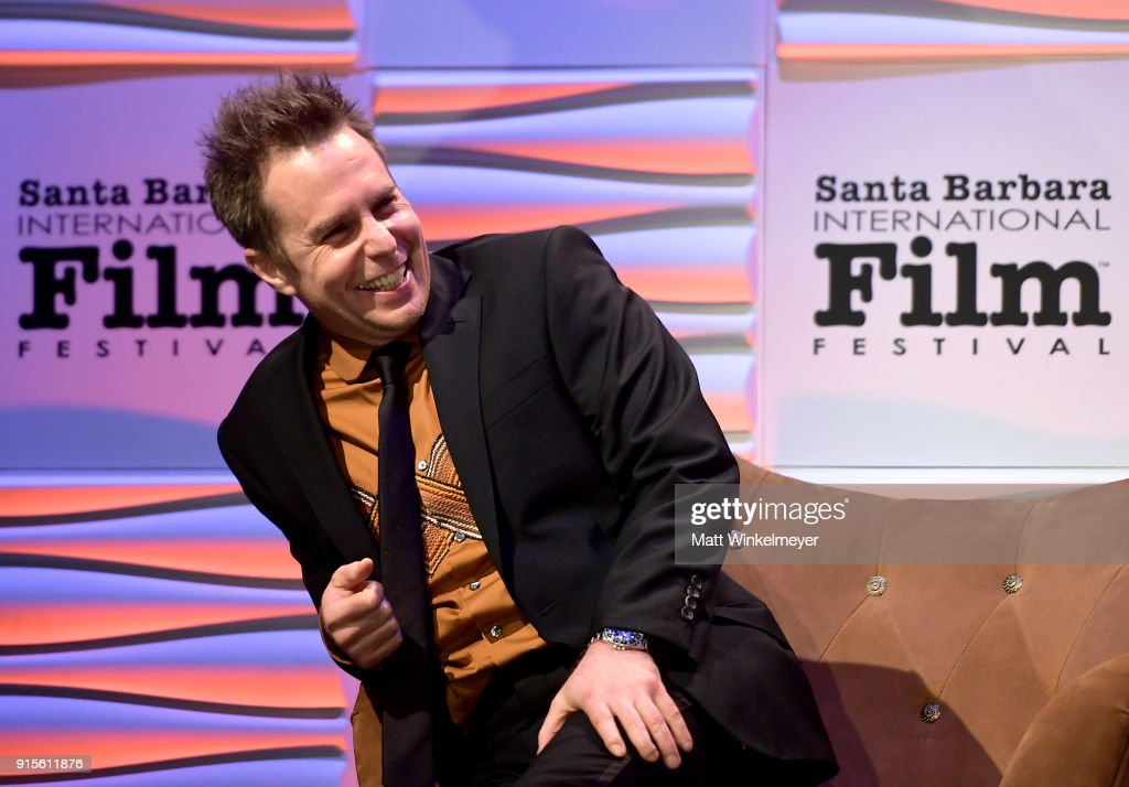 Actor Sam Rockwell speaks onstage at The American Riviera Award Honoring Sam Rockwell during The 33rd Santa Barbara International Film Festival at Arlington Theatre on February 7, 2018 in Santa Barbara, California.