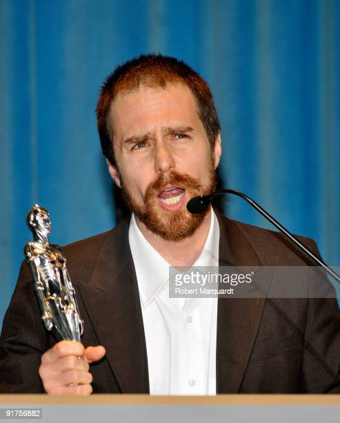 Actor Sam Rockwell was given the Best Actor Award for the film 'Moon' at the 42nd Sitges Film Festival on October 11 2009 in Barcelona Spain