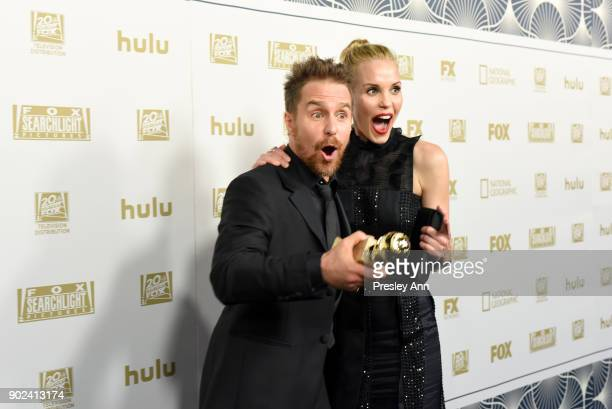 Actor Sam Rockwell winner of Best Performance by an Actor in a Supporting Role Motion Picture for 'Three Billboards Outside Ebbing Missouri' and...