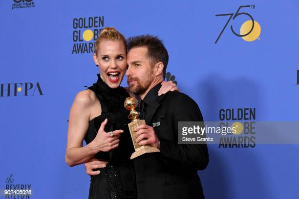 Actor Sam Rockwell winner of the award for Best Performance by an Actor in a Supporting Role in a Motion Picture for 'Three Billboards Outside Ebbing...