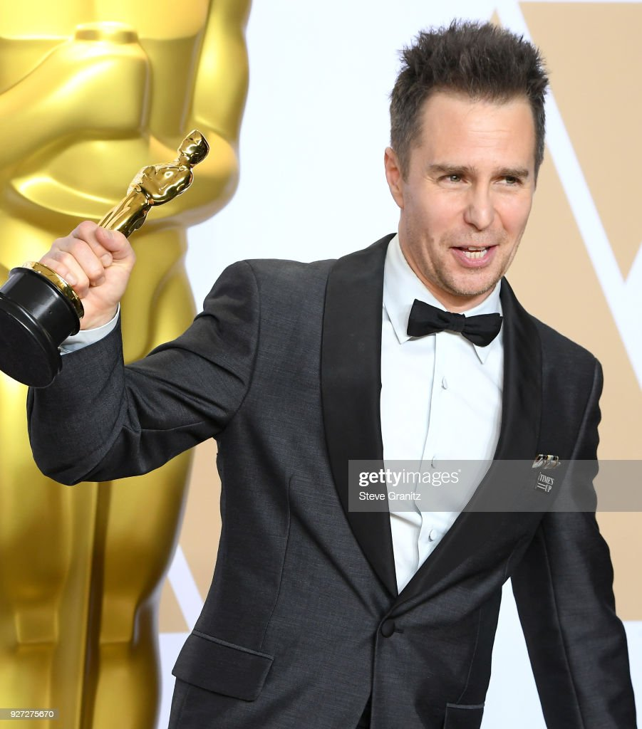 Actor Sam Rockwell winner of the Best Supporting Actor award for 'Three Billboards Outside Ebbing, Missouri, poses in the press room during the 90th Annual Academy Awards at Hollywood & Highland Center on March 4, 2018 in Hollywood, California.