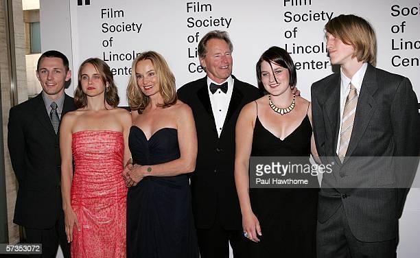 Actor Sam Shepard and actress Jessica Lange pose with family members Shura Baryshnikov her husband Bruce Bryan Hanna Shepard and Walker Shepard at...