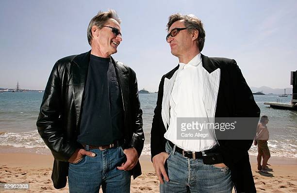 Actor Sam Shepard and director Wim Wenders pose for a portrait while promoting the film 'Don't Come Knocking' at the 58th International Cannes Film...